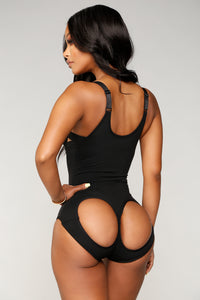 Nothing Left Butt Lifter Bodysuit - Black