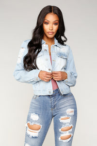 Blame It Denim Jacket - Blue