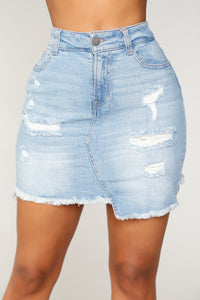 Frankie Denim Skirt - Blue