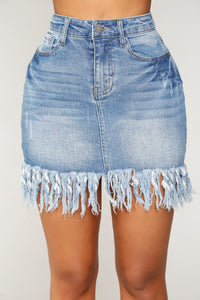 Arden Denim Skirt - Blue