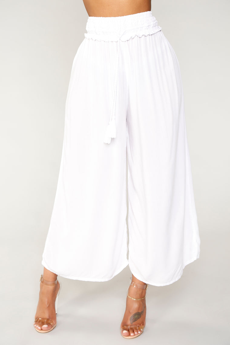 Walk Out To The Pier Pants - White