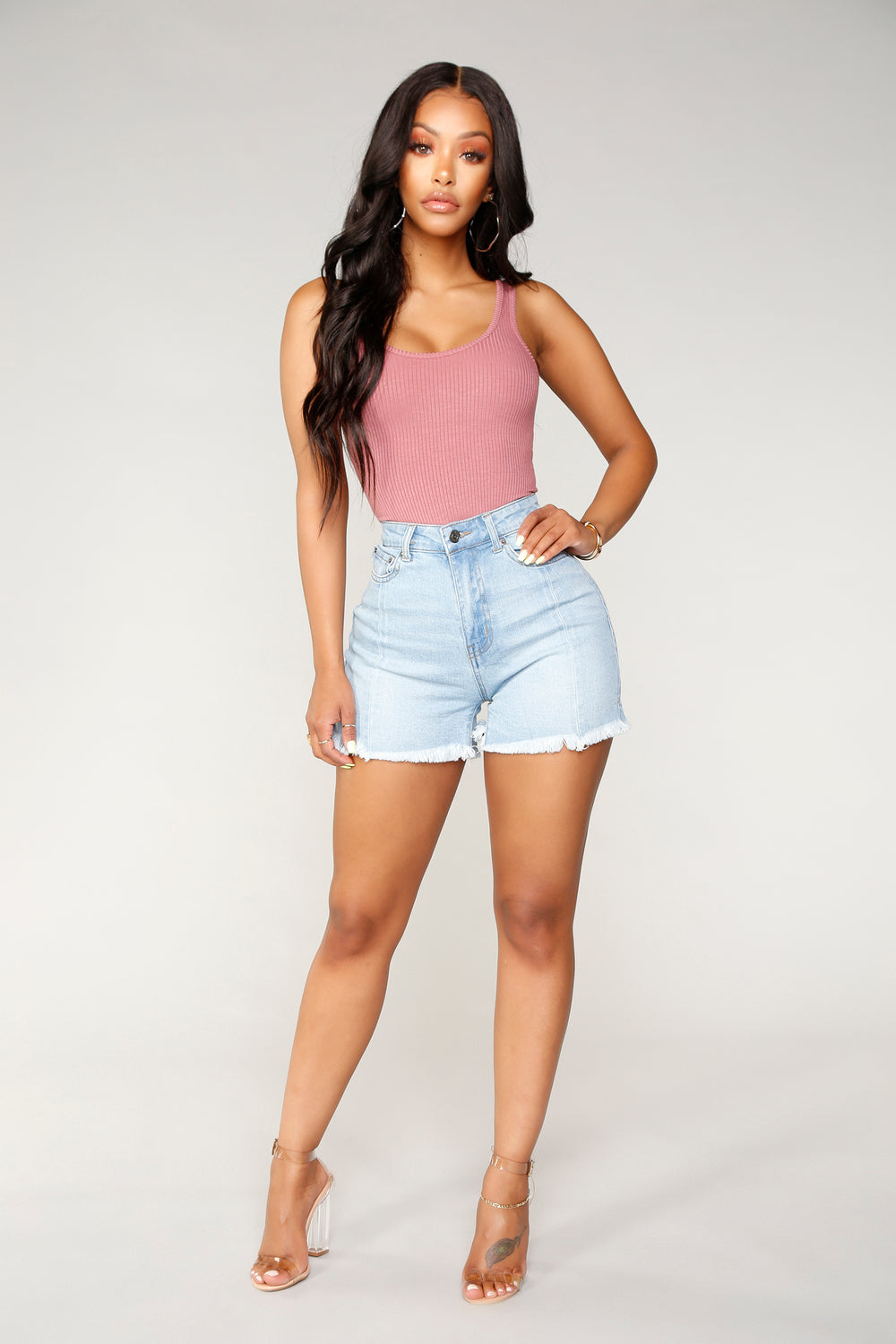 Best Summer Night Denim Shorts - Light Blue Wash