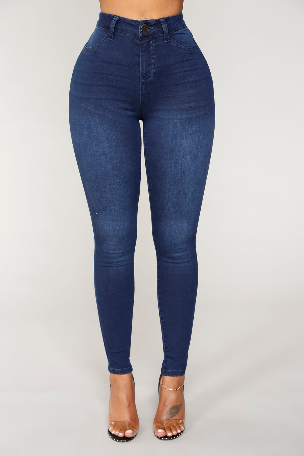 Giana High Rise Ankle Jeans - Dark Denim