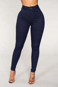 Giana High Rise Ankle Jeans - Indigo