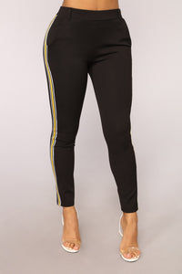 Keep 'Em In Line Pants - Black