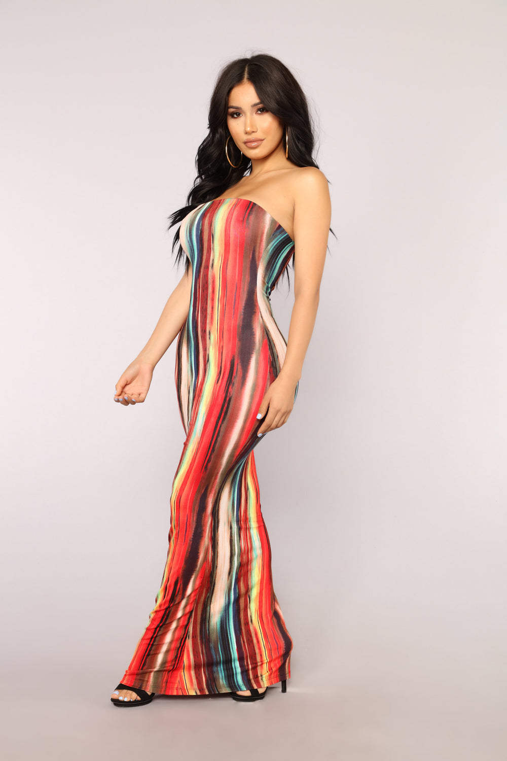 Work Of Art Dress - Red/Multi