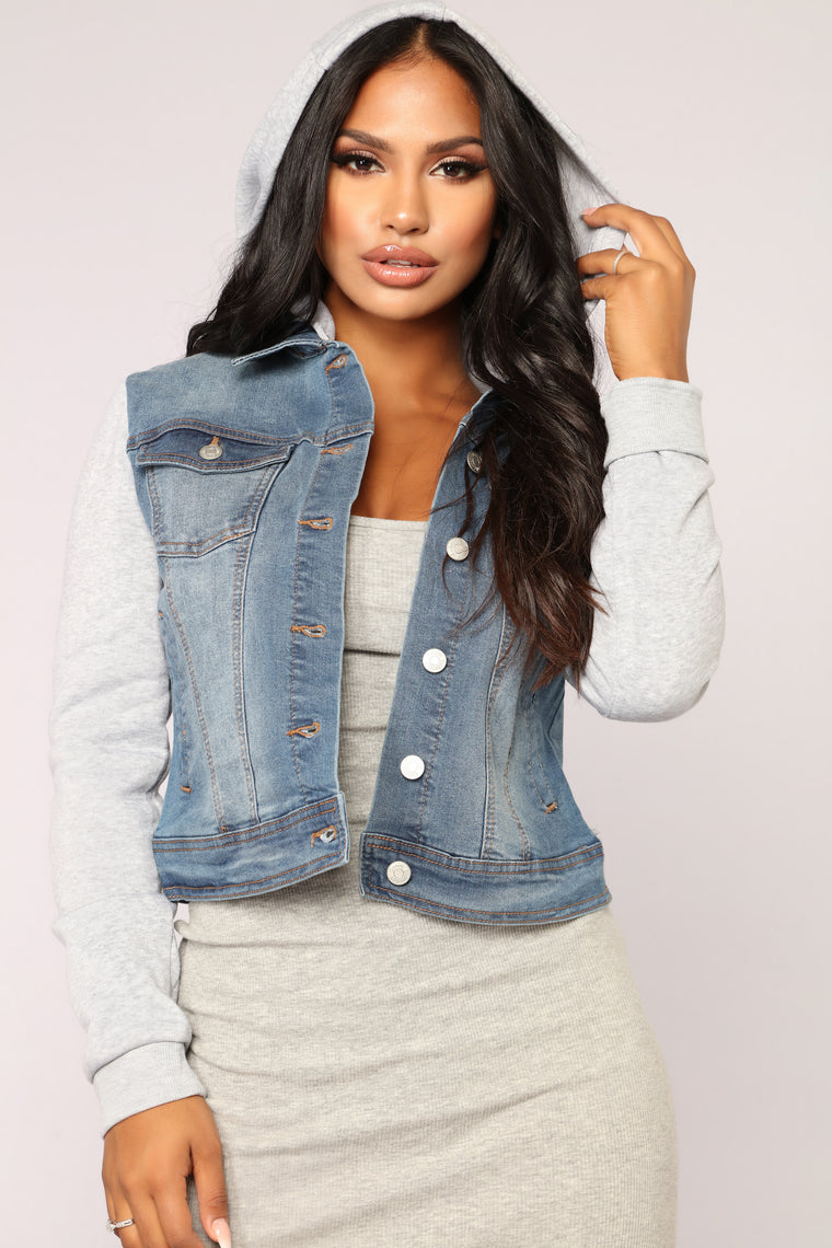Carried Away Denim Jacket - Medium Wash