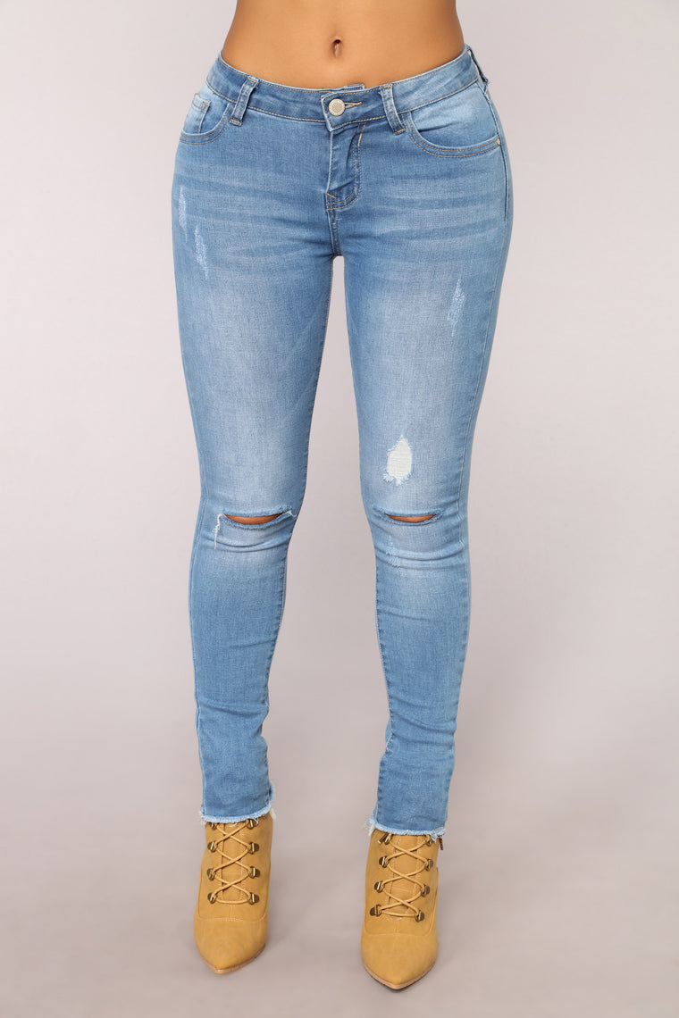 Not Just A Pretty Face Jeans - Light Blue Wash