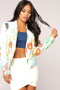 Butterfly Effect Blazer - White Angle 1