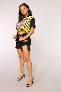 Reckless Behavior Top - Yellow/combo