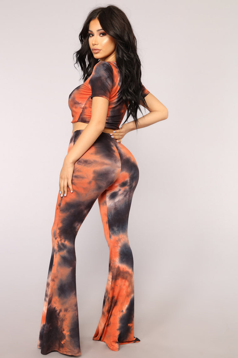 Bamboo Babe Pant Set - Orange