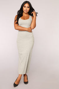 Mulberry Street Maxi Dress - Heather Grey