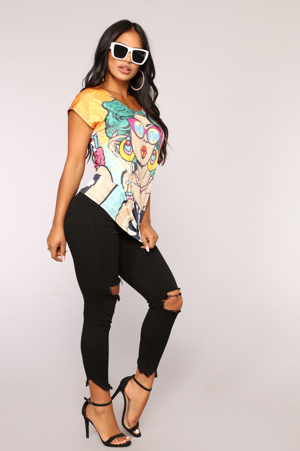 Boom Goes The Dynamite Tee - White/Multi