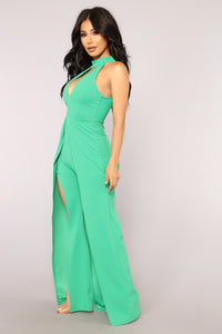 High Expectations Jumpsuit - Green