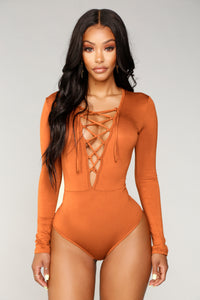 String You Along Bodysuit - Camel