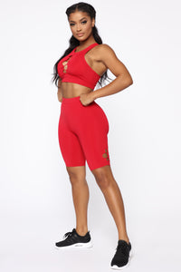 Dating Gym Crop Top - Red