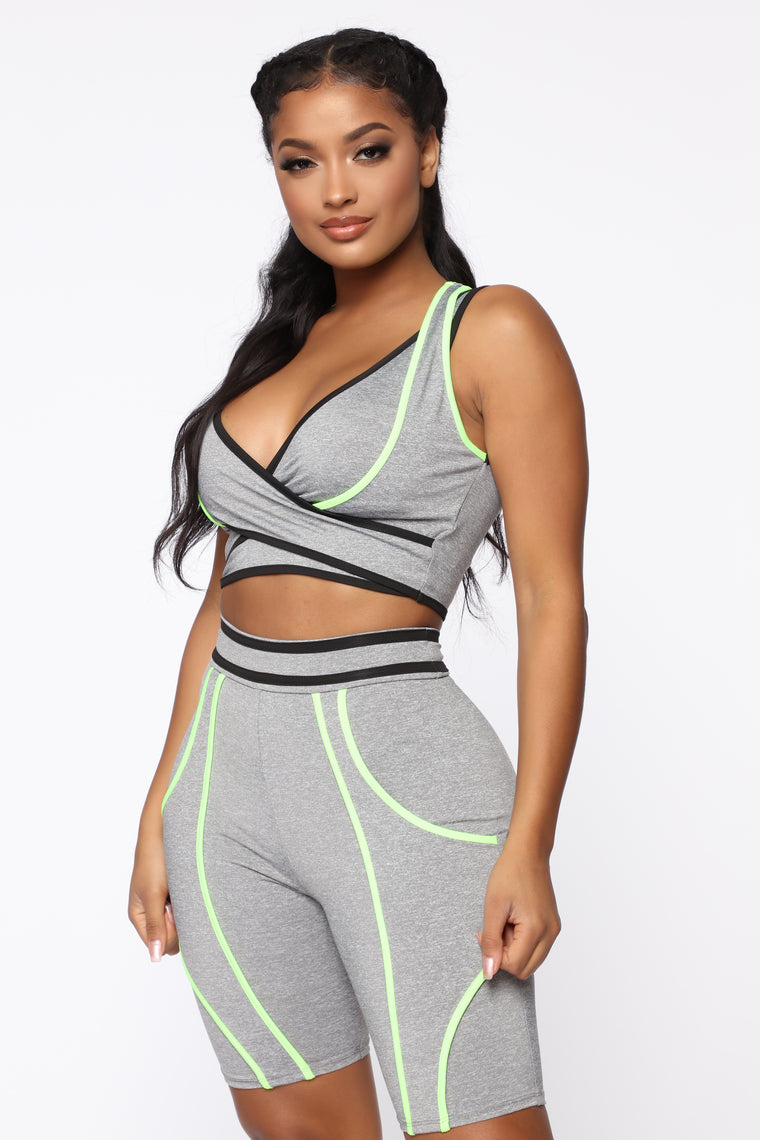 Out Of This World Short Set - Grey/combo