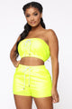 Best Believe Short Set - Neon Yellow