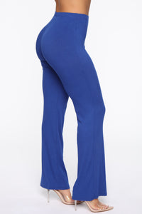 Perfect Feeling Ribbed Pants - Royal