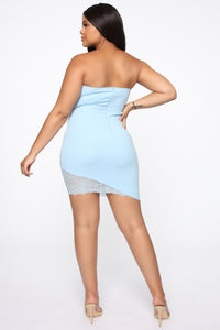 She's Unforgettable Mini Dress - Light Blue Angle 8