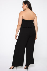 A Little More Romance Jumpsuit - Black