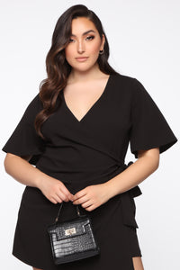 Thought Of You Romper - Black Angle 3