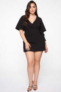 Thought Of You Romper - Black Angle 1