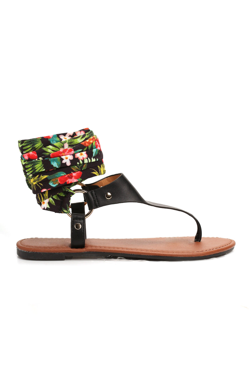 Tie The Look Together Sandal - Black