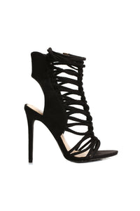 Caged Cat Heel - Black