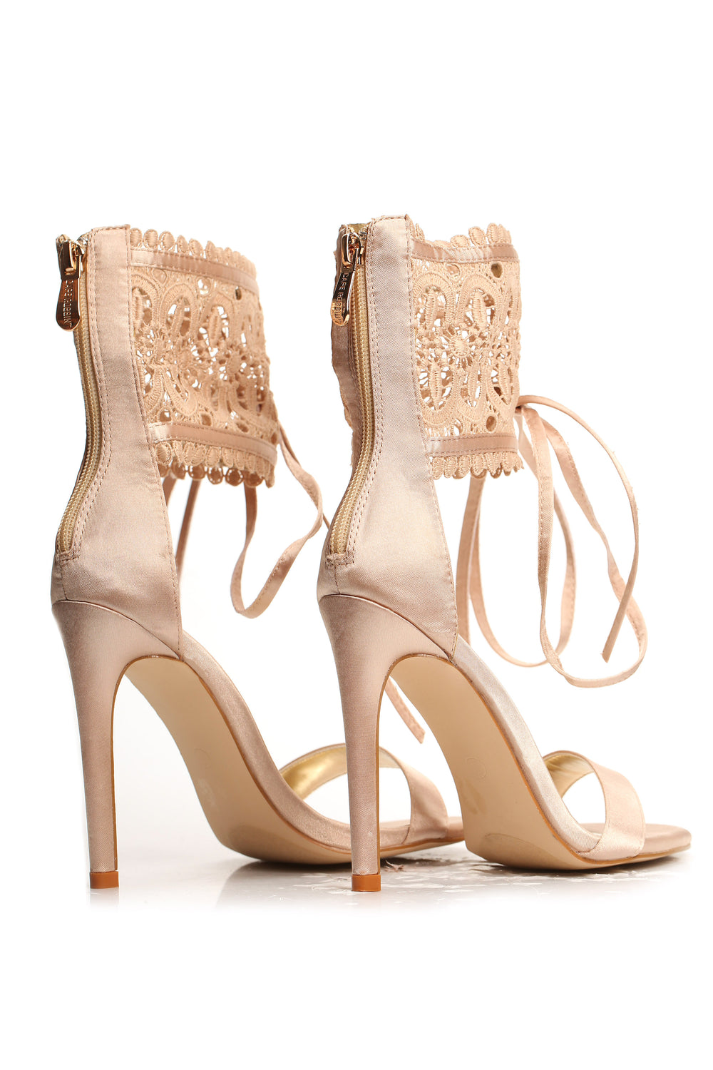 Leave It To Lace Heel - Champagne