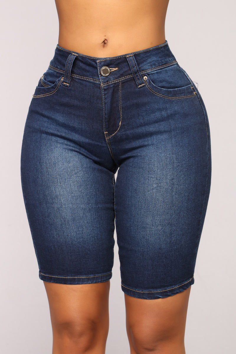 Pier A Denim Bermudas - Dark Denim