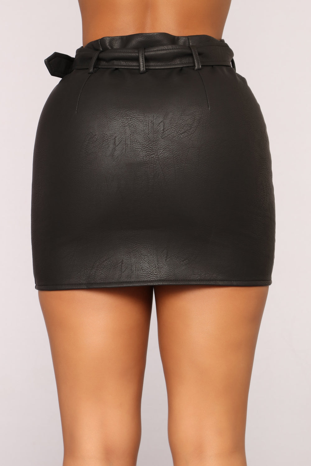 She Is A Rider Moto Skirt - Black