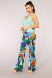 Viera High Waisted Dress Pants - Green