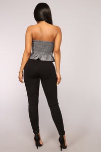 Let it Go High Rise Leggings - Black Angle 6