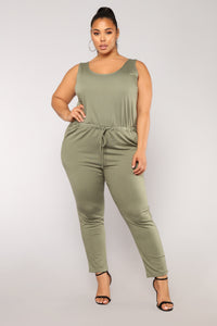 Sammy Lounge Jumpsuit - Dark Green