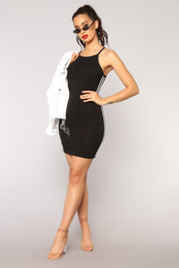 Sprightly Athletic Dress - Black