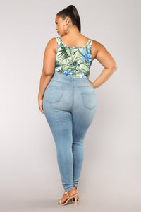 Tropical Storm Bodysuit - Blue/Combo