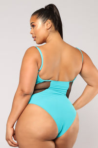 Different Mix Swimsuit - Teal