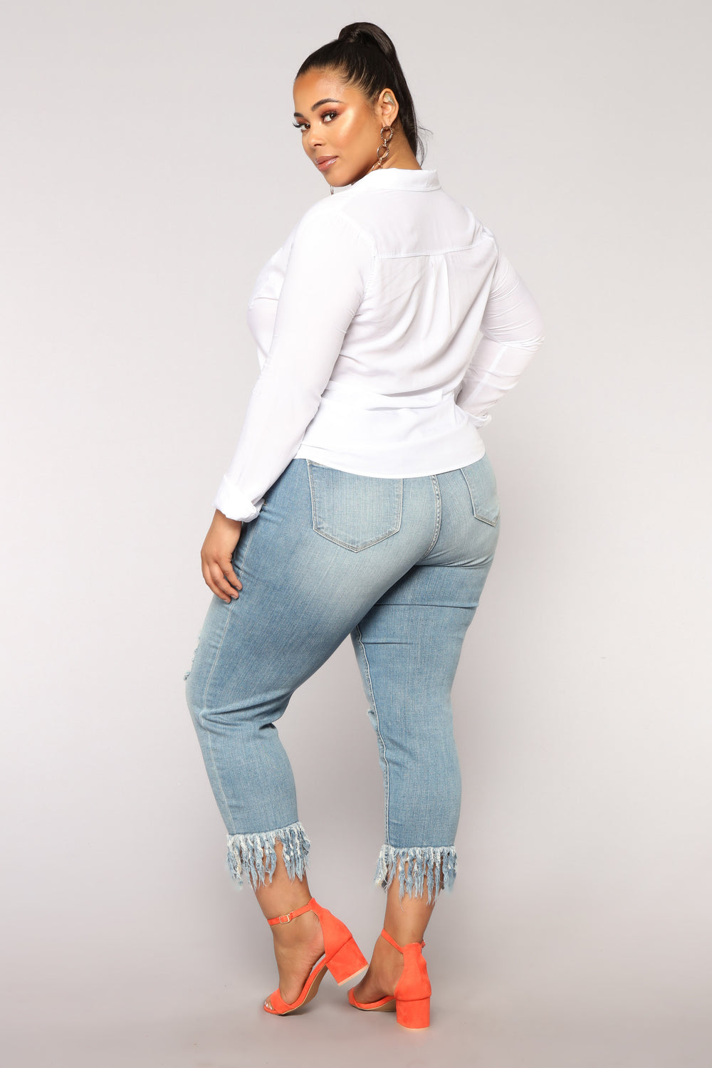 Shipwrecked High Rise Distressed Jeans II - Light Blue Wash
