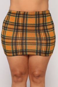 Perfect Attendance Skirt Set - Mustard/Multi