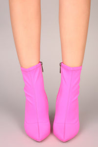 Out Of Line Bootie - Pink