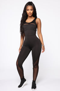 No Rules Lounge Jumpsuit - Black Angle 1