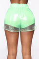 Be Clear With Me Short Set - Lime