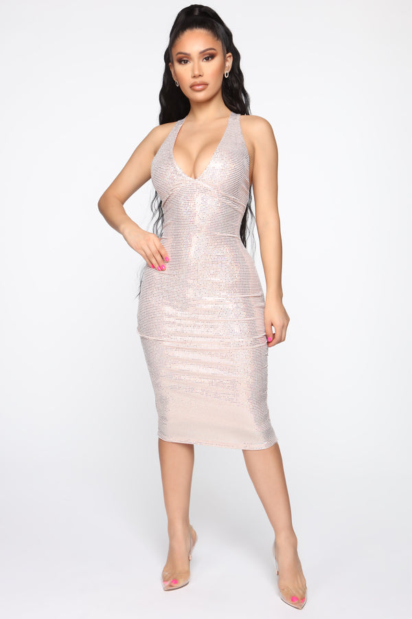 8d4a20d5 I Shine For Miles Sequin Midi Dress - Pink