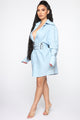 The Sassy Type Shirt Dress - Light Wash