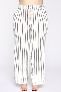 Keep It Moving Flare Pants - White/combo