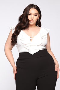 Work Harder For My Love Top - White Angle 2