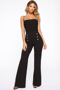 Bailey Button High Rise Pants - Black