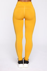 Messing Around Legging - Mustard