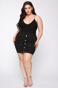 Hardly Workin Mini Skirt - Black